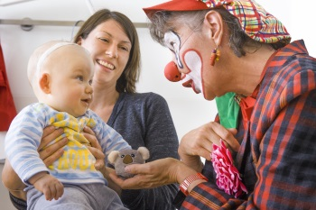 Clown Julchen in der Kinderklinik Heidelberg