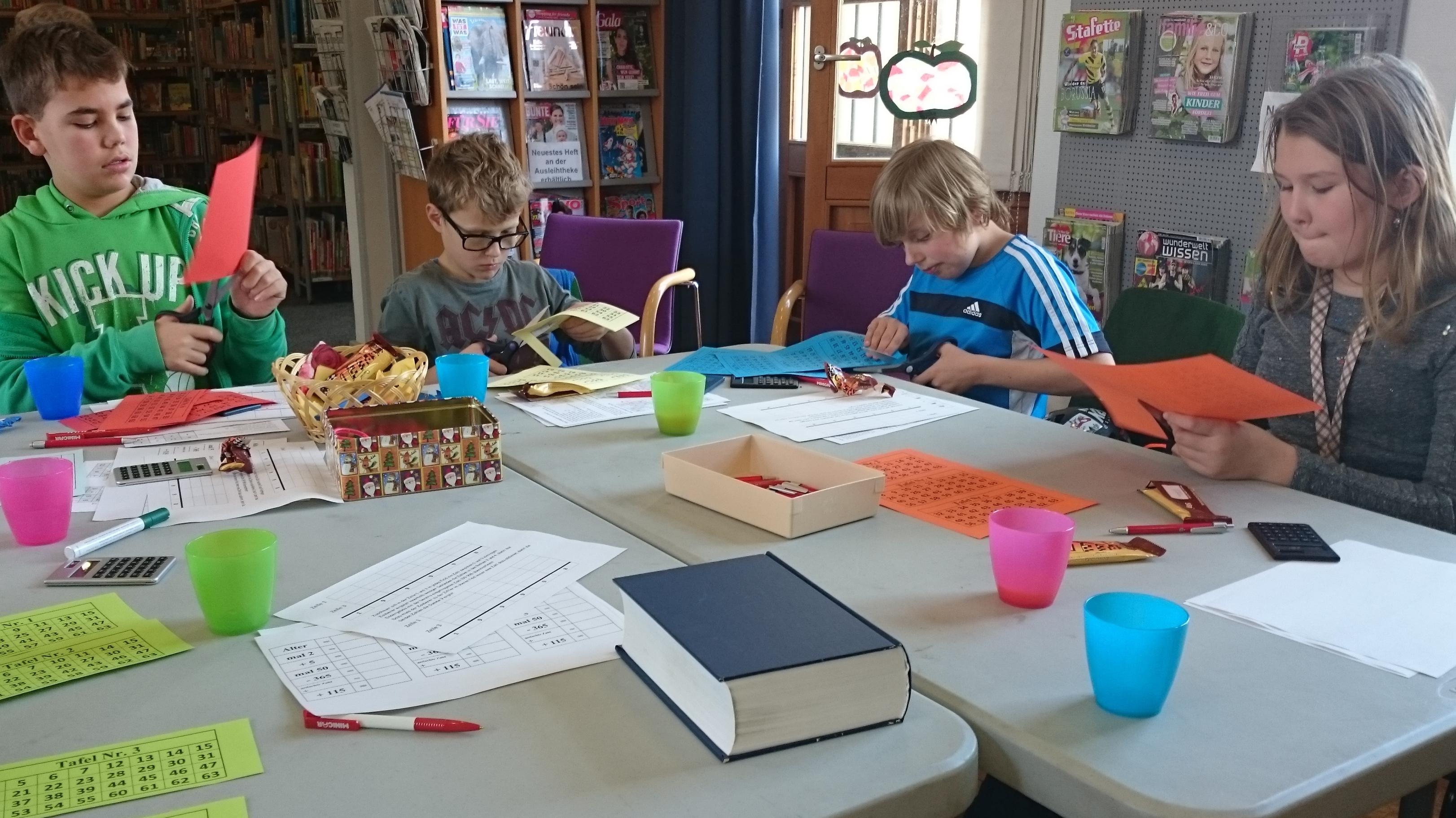 Zahlenworkshop in der Gemeindebibliothek in Graben-Neudorf