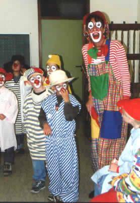 Clownworkshop beim Ferienspass der Sparkasse Karlsruhe-Ettlingen in Bruchsal