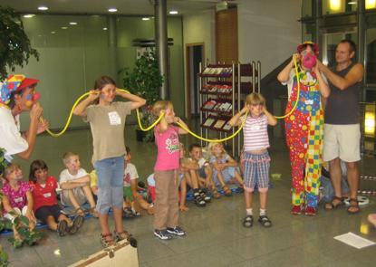 Clownworkshop beim Ferienspass der Sparkasse Karlsruhe-Ettlingen